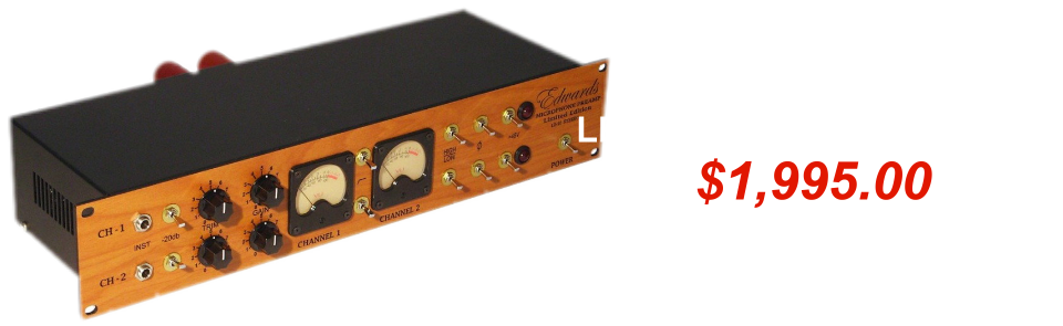 Edwards LE10 Stereo Mic Preamp Summer NAMM 2017 Sale Special